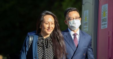 Huawei CFO leaves Canada after U.S. agreement on fraud charges, detained Canadians head home