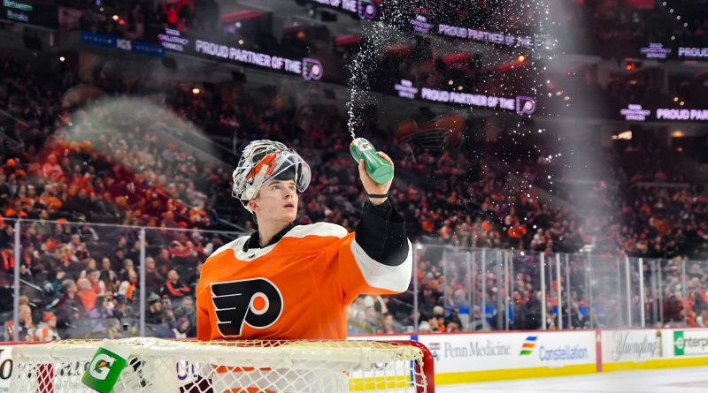 Carter Hart's incredible save left Flyers teammates purring
